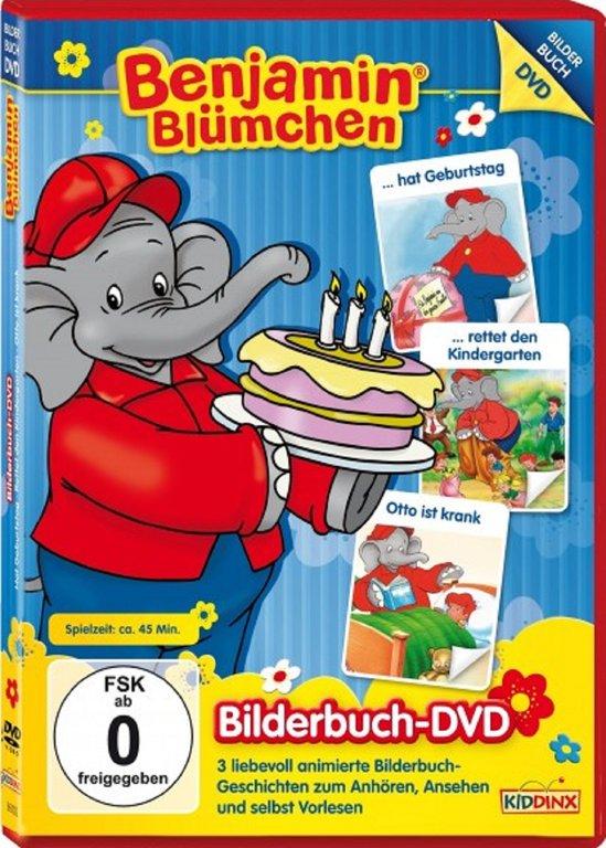 Dvd Benjamin Blumchen Bilderbuch Dvd 4 Mit 3 Filme Geburtstag