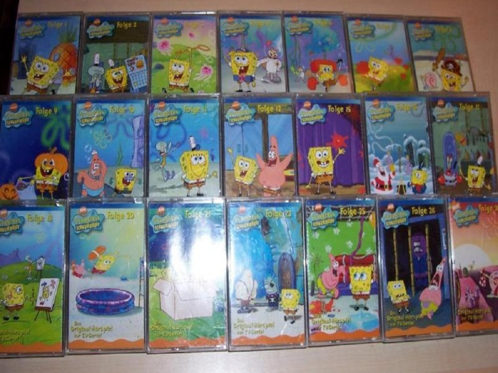 SpongeBob Schwammkopf Hörspiel MC Kassetten 21x MCs aus 1 - 30 ...