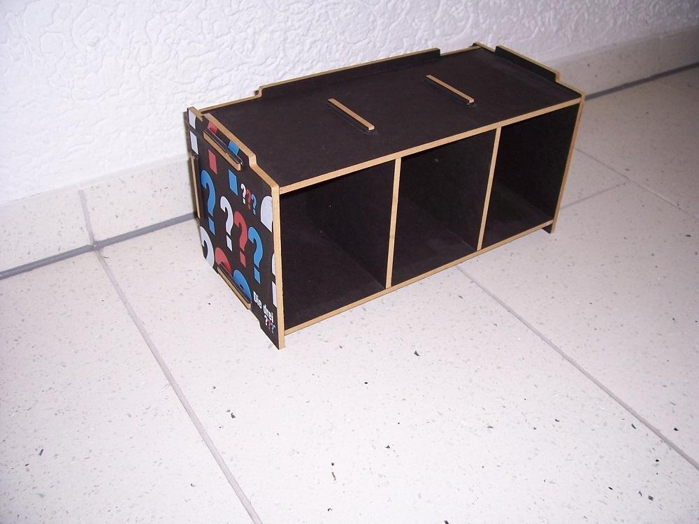 die drei fragezeichen 3 fanartikel cd regal box mediabox f r 30 cds von werkhaus gebr. Black Bedroom Furniture Sets. Home Design Ideas