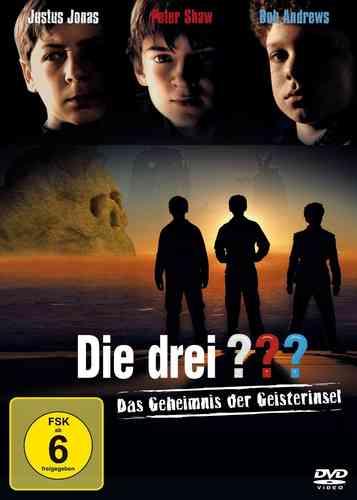 DVD Die drei 3 ??? Fragezeichen Kinofilm 1 Geheimnis Geisterinsel 2008  NEU & OVP