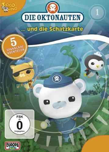 DVD Die Oktonauten  1 und die Schatzkarte TV-Serie 5 Episoden OVP & NEU