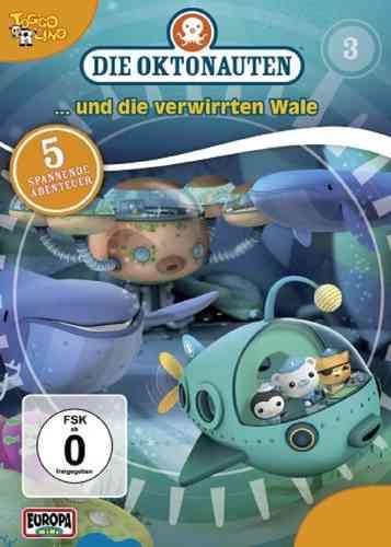 DVD Die Oktonauten  3 und die verwirrten Wale  TV-Serie 5 Episoden OVP & NEU