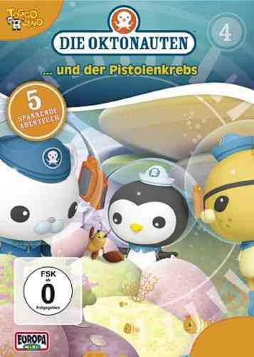 DVD Die Oktonauten  4 und der Pistolenkrebs  TV-Serie 5 Episoden OVP & NEU