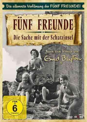 DVD 5 Fünf Freunde Die Sache mit der Schatzinsel von 1957 erster Film  NEU & OVP