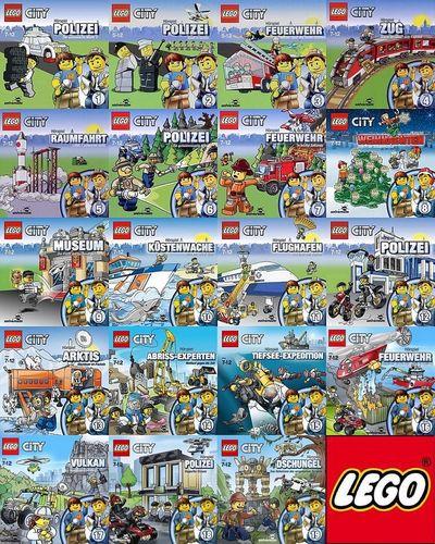 LEGO ® City Hörspiel CD 1 - 19 x CDs Sammlung komplett Paket  OVP & NEU