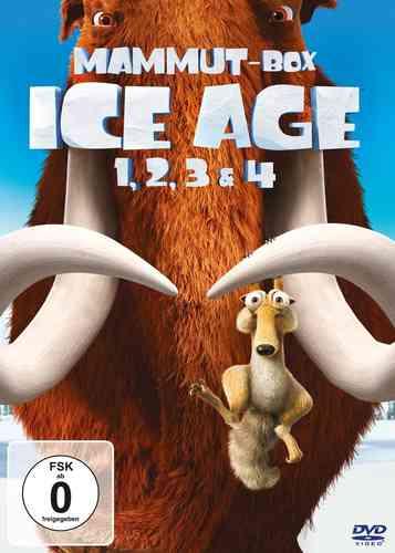 DVD Ice Age 1 2 3 4 komplett Box 4x DVDs Mammut Box Voll Verschoben  NEU & OVP