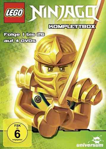 DVD LEGO ® Ninjago Masters of Spinjitzu Staffel 1 + 2 Komplettbox TV-Serie Episoden 1-26 BOX NEU OVP