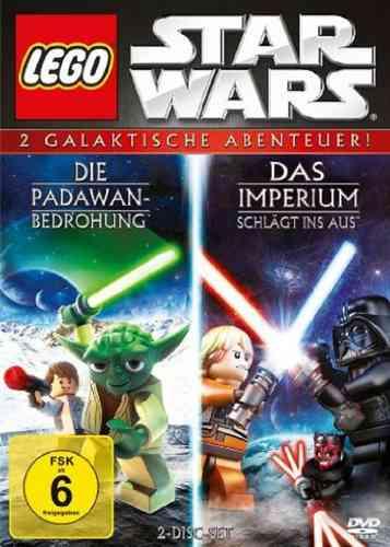 DVD LEGO ® Star Wars Die Padawan Bedrohung + Das Imperium schlägt ins Aus 2x DVDs in Box NEU