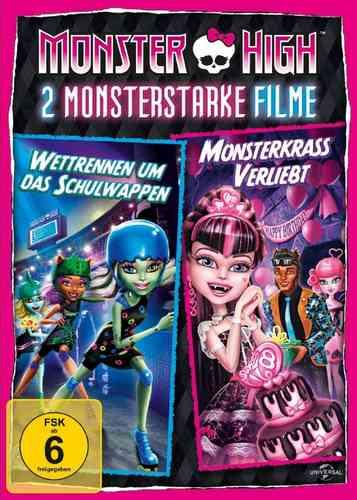 DVD Monster High Box Wettrennen um das Schulwappen + Monsterkrass verliebt 2 Filme Box NEU