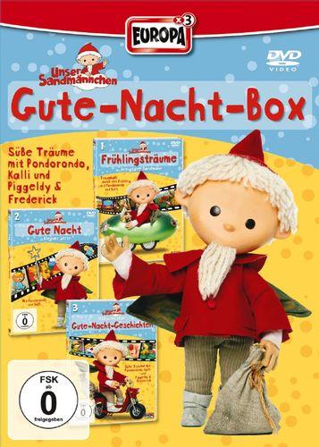 DVD Unser Sandmännchen Box 1 Gute-Nacht-Box 1+2+3 TV-Serie 3x DVDs 1+2+3 OVP & NEU