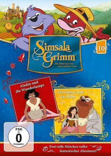 DVD SimsalaGrimm 10 Aladdin Aladin und die Wunderlampe + Die Schöne und das Biest TV-Serie NEU