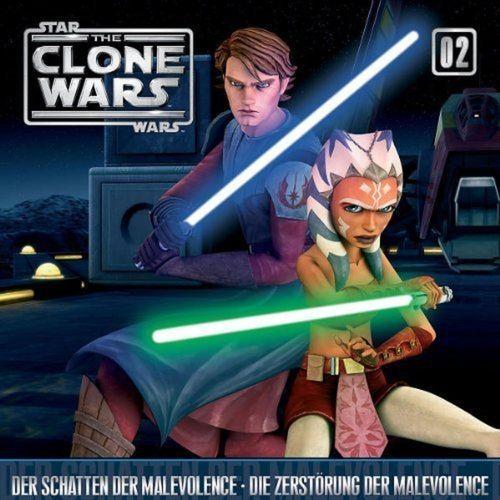 Star Wars - The Clone Wars Hörspiel CD 002  2 Der Schatten + Die Zerstörung der Malevolence NEU OVP