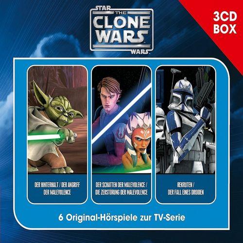 Star Wars - The Clone Wars Hörspiel CD 1. Fanbox  1  2  3 1-3 3 x CDs in Box  6 Episoden 01/3er NEU