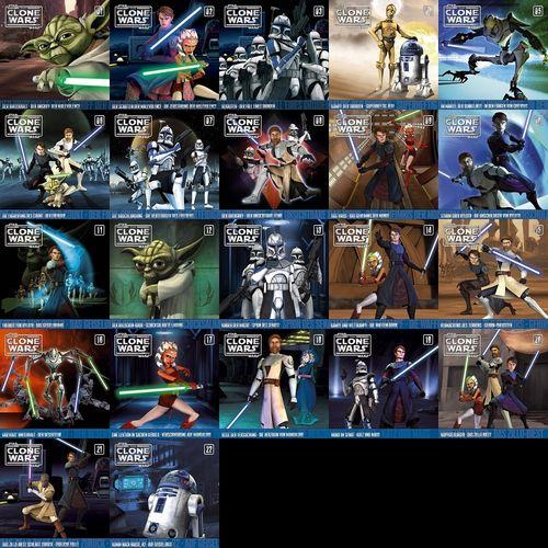 Star Wars - The Clone Wars Hörspiel CD 1 - 22 x CDs komplett Sammlung 44x Episoden NEU & OVP