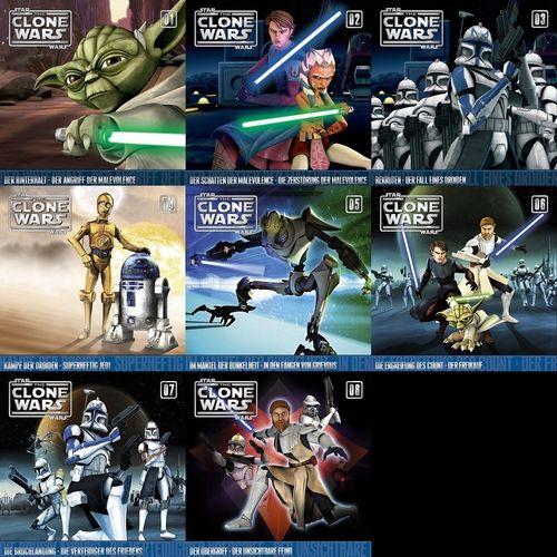 Star Wars - The Clone Wars Hörspiel CD 1 - 8 x CDs 16x Episoden Sammlung komplett  NEU & OVP
