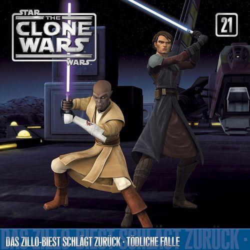 Star Wars - The Clone Wars Hörspiel CD 021 21 Das Zillo Biest schlägt zurück + Tödliche Falle NEU &