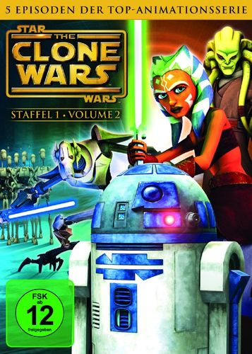 DVD Star Wars The Clone Wars Staffel Season 1.2  TV-Serie Folge 06-10 NEU & OVP