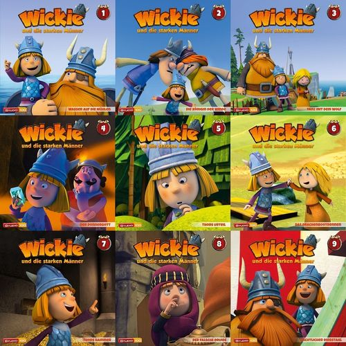 Wickie und die starken Männer Hörspiel CD 1 - 9 x CDs komplett Sammlung Folge 01-58 CGI TV-Serie NEU