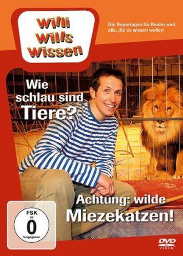 DVD Willi Wills Wissen - Wie schlau sind Tiere + Achtung; wilde Miezekatzen  OVP NEU