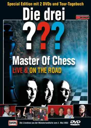 DVD + Buch Die drei 3 ??? Fragezeichen Master of Chess MOC Limited Special Edition 2002 2x DVDs NEU