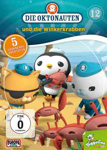 DVD Die Oktonauten 12 und die Winterkrabben TV-Serie 5 Episoden OVP & NEU