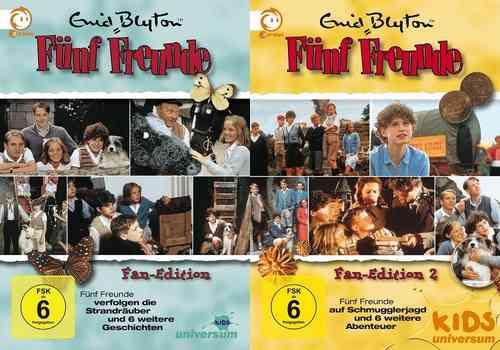 DVD 5 Fünf Freunde Box 1 + 2 mit 18 Folgen Collector's Fan Edition 10 DVDs TV-Serie ZDF NEU OVP
