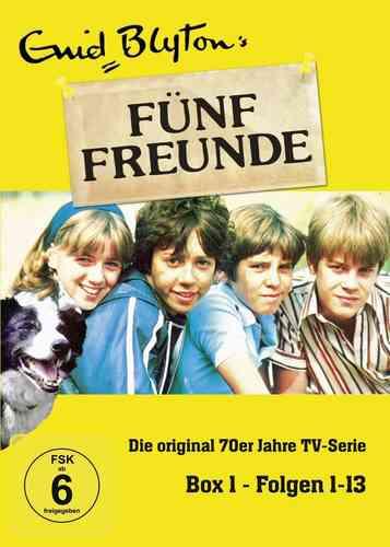 DVD 5 Fünf Freunde Box 1 mit 1-13 Folgen 3 DVDs TV-Serie aus den 70er NEU & OVP