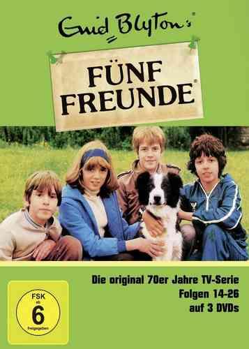 DVD 5 Fünf Freunde Box 2 mit 14-26 Folgen 3 DVDs TV-Serie aus den 70er NEU & OVP