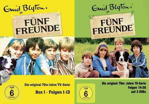 DVD 5 Fünf Freunde Box 1 + 2 mit 1-26 Folgen 3 DVDs TV-Serie aus den 70er NEU & OVP