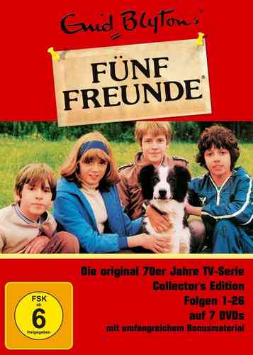 DVD 5 Fünf Freunde Box Collectors Edition mit 1-26 Folgen 6 DVDs TV-Serie aus den 70er NEU & OVP