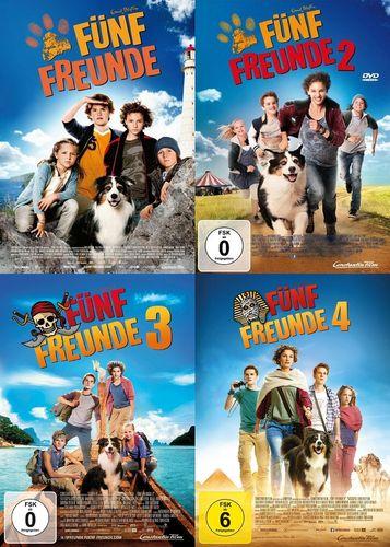 DVD 5 Fünf Freunde der Kinofilm 1 + 2 + 3 + 4 komplett  Kino Film  NEU & OVP