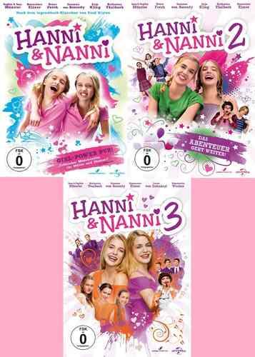 DVD Hanni und Nanni Kinofilm 1 + 2 + 3 Film komplett Sammlung 3x DVDs  NEU & OVP