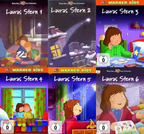 DVD Lauras Stern 1 2 3 4 5 6 x DVDs komplett Sammlung TV-Serie mit 52 Episode  NEU & OVP