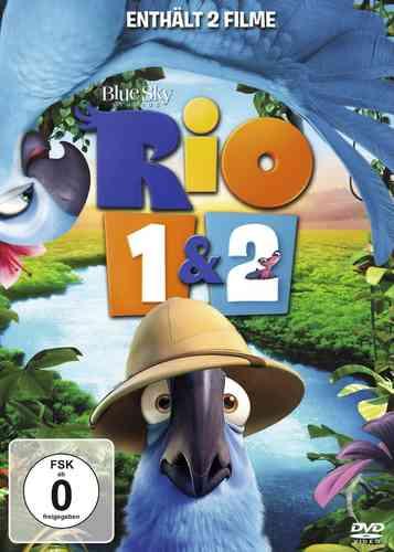 DVD Rio 1 + 2 Doppelbox 2x DVDs von den Machern von Ice Age NEU & OVP