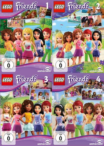 DVD LEGO ® Friends 1 + 2 + 3 + 4 x DVDs  TV-Serie komplett Episode 01-12 NEU & OVP