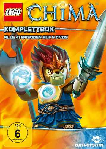 DVD LEGO ® Legends of Chima Komplettbox mit 1 - 9 TV-Serie komplett Episoden 01-41 9x DVDs Box NEU