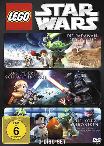 DVD LEGO ® Star Wars Die Padawan Bedrohung Das Imperium schlägt ins Aus Die Yoda Chroniken 3DVDs NEU
