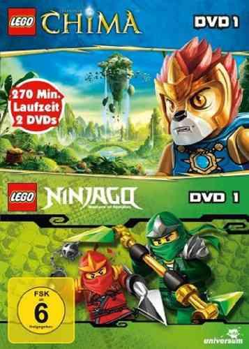DVD LEGO ® Legends of Chima 1 + Ninjago Masters of Spinjitzu 1 2 DVDs NEU & OVP