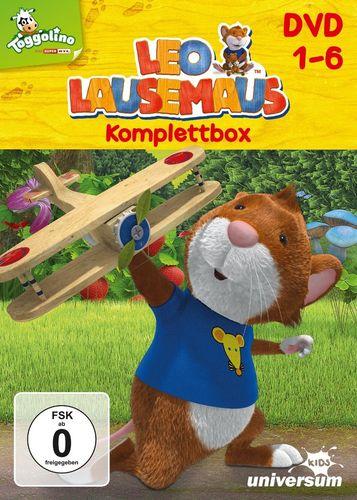 DVD Leo Lausemaus 1 2 3 4 5 6 x DVDs komplett Box TV-Serie Episode 01-52  Universum Kids NEU & OVP