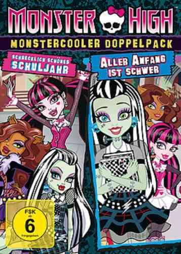 DVD Monster High Box Monstercooler Schrecklich schönes Schuljahr Aller Anfang ist schwer 2 Film NEU