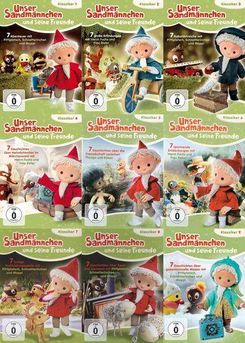 DVD Unser Sandmännchen Klassiker 1 - 9 x DVDs komplett Sammlung TV-Serie OVP & NEU