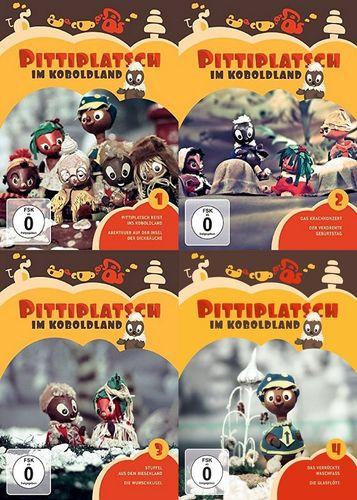 DVD Pittiplatsch aus Unser Sandmännchen 1 2 3 4 Pittiplatsch im Koboldland  TV-Serie komplett NEU