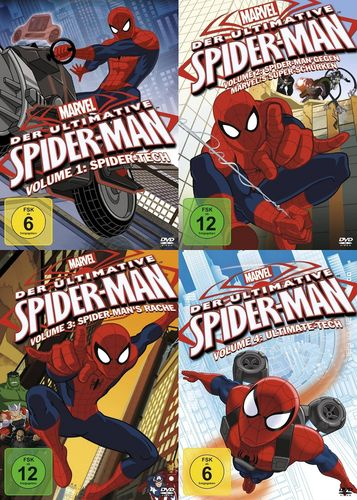DVD Der ultimative Spider-Man 1 + 2 + 3 + 4 x DVDs komplett Sammlung TV-Serie Marvel NEU