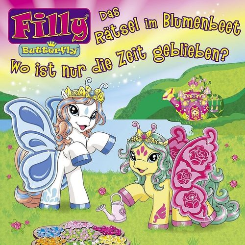 Filly Butterfly Hörspiel CD 001 1 Das Rätsel im Blumenbeet + Wo ist nur die Zeit geblieben NEU & OVP