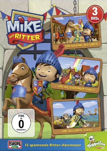 DVD Mike, der Ritter 3er Box Folge 1 + 2 + 3 3x DVDs in Box TV-Serie 15 Episode OVP & NEU
