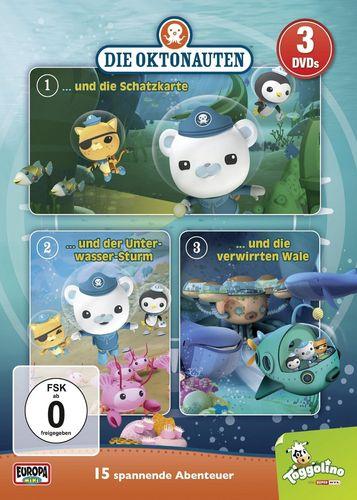 DVD Die Oktonauten 3er Box Folge 1 + 2 + 3 x DVDsTV-Serie 15 Episoden OVP & NEU