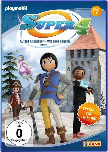 DVD Super 4 Playmobil 01 1 Auf ins Abenteuer – Wie alles begann TV-Serie mit 4 Geschichten NEU & OVP