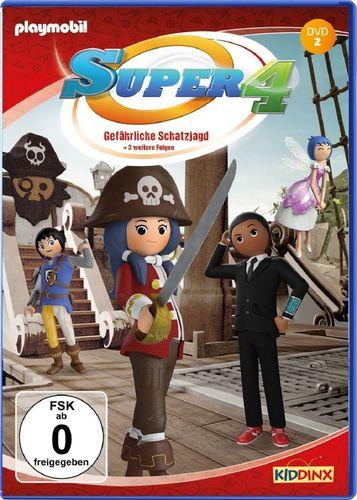 DVD Super 4 Playmobil 02 2 Gefährliche Schatzjagd TV-Serie mit 4 Geschichten NEU & OVP