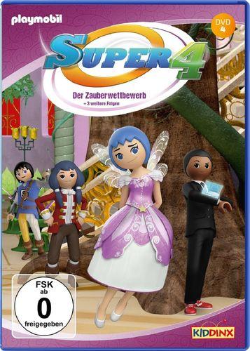 DVD Super 4 Playmobil 04 4 Der Zauberwettbewerb  TV-Serie mit 4 Geschichten NEU & OVP