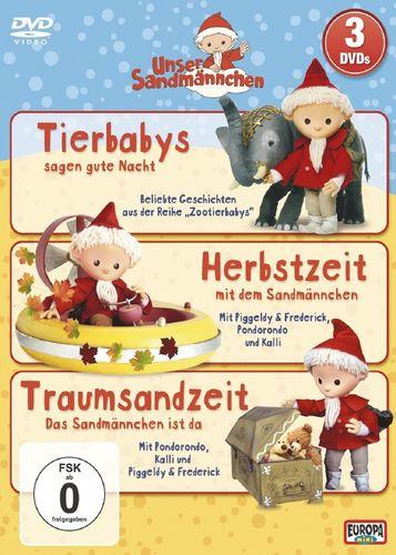 DVD Unser Sandmännchen Box 3 mit 4+5+7 TV-Serie 3x DVDs OVP & NEU